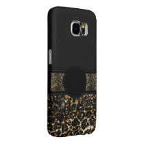 Fancy Animal Print Monogram Samsung Galaxy S6 Case