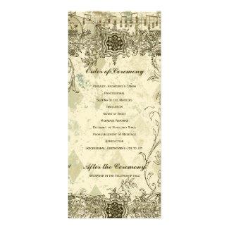 Fancy Antique Music Wedding Program