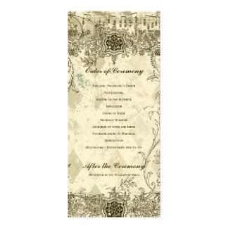 Fancy Antique Music Wedding Program Rack Card
