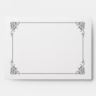 Fancy Art Deco Black & White Envelopes