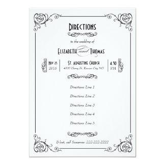 Fancy Art Deco Black & White Insert Card Invite