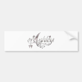 Fancy Ashley Signature Bumper Sticker