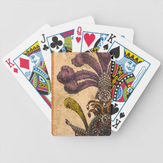 fancy background bicycle playing cards