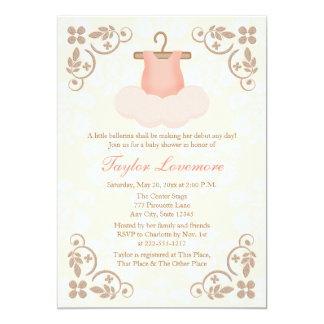 FANCY BALLERINA TUTU BABY SHOWER INVITATION
