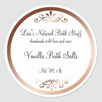 Fancy Bath Products Label Classic Round Sticker