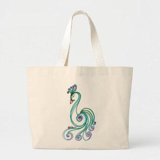 Fancy Bird Large Tote Bag