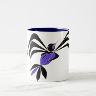 Fancy Bird Two-Tone Coffee Mug