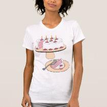 Fancy Birthday Cake Womens T-Shirt