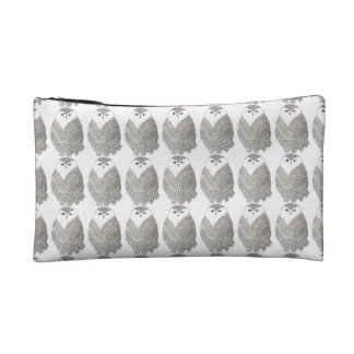 Fancy Black and White Owl Wristlet