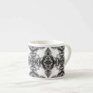 Fancy Black and White Pattern Espresso Cup