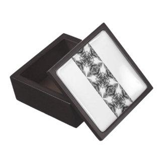 Fancy Black and White Pattern Premium Jewelry Box