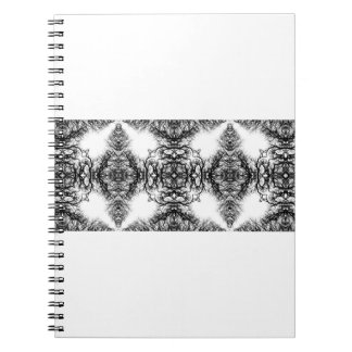 Fancy Black and White Pattern Spiral Note Book