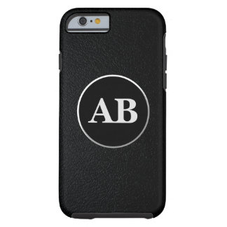 Fancy Black Leather Personalized iPhone Cover Tough iPhone 6 Case