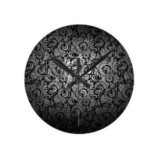 fancy black swirl wall clock