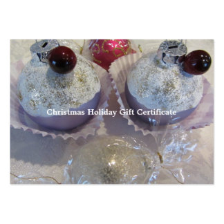 Fancy Blank Christmas Gift Certificate Large Business Cards (Pack Of 100)
