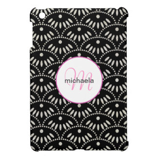 Fancy Bling Seigaiha Pattern iPad Mini Case
