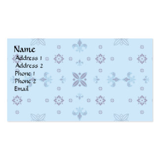 Fancy Blue Double-Sided Standard Business Cards (Pack Of 100)