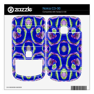 fancy blue ornate abstract nokia c3-00 skins