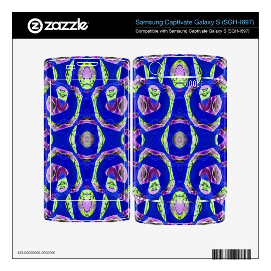 fancy blue ornate abstract samsung captivate decals
