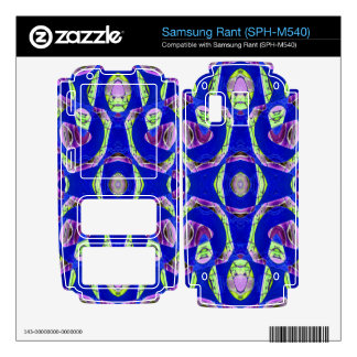 fancy blue ornate abstract samsung rant decals