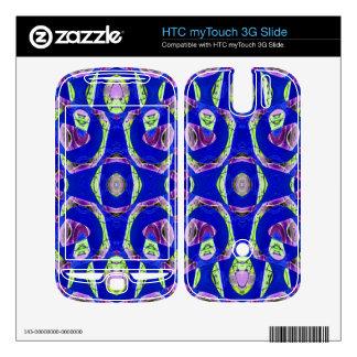 fancy blue ornate abstract HTC myTouch 3G slide skin
