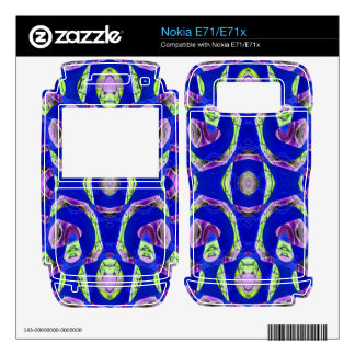 fancy blue ornate abstract skin for nokia e71x