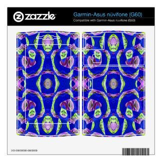 fancy blue ornate abstract garmin asus nuvifone skin