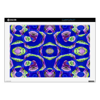 """fancy blue ornate abstract skin for 17"""" laptop"""