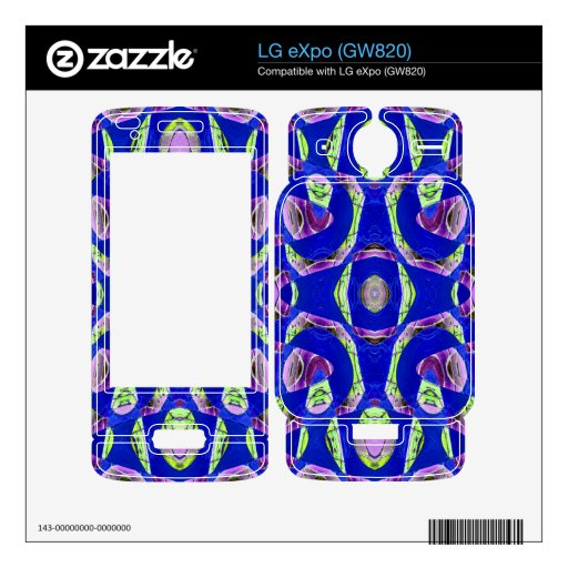 fancy blue ornate abstract skin for LG eXpo