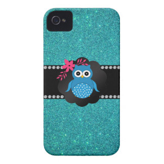 Fancy blue owl turquoise owl iPhone 4 cases