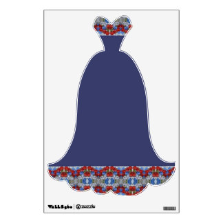 Fancy Blue Party Dress Evening Gown Wall Decal