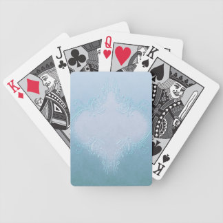 Fancy Blue Playing Cards