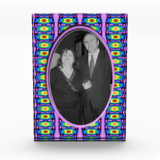 fancy blue purple photo frame acrylic award