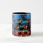 Fancy Blue Red Abstract Two-Tone Coffee Mug