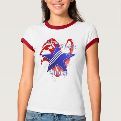 Fancy Blue Star Mom Shirts