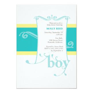 Fancy Boy Custom Baby Shower Invitation