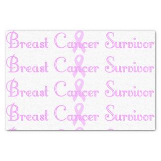 """Fancy Breast Cancer Survivor 10"""" X 15"""" Tissue Paper"""