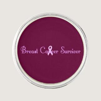 Fancy Breast Cancer Survivor Lapel Pin