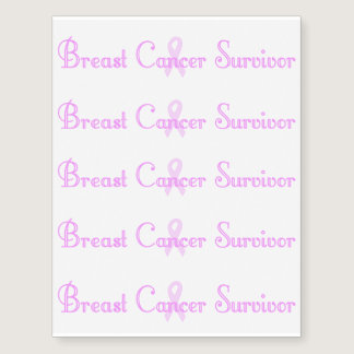 Fancy Breast Cancer Survivor Temporary Tattoos