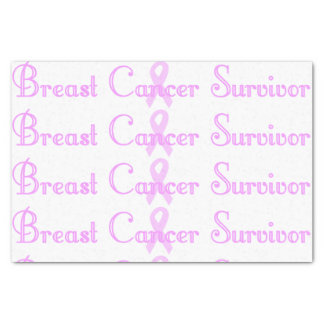 Fancy Breast Cancer Survivor Tissue Paper