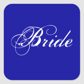 Fancy Bride On Navy Sticker