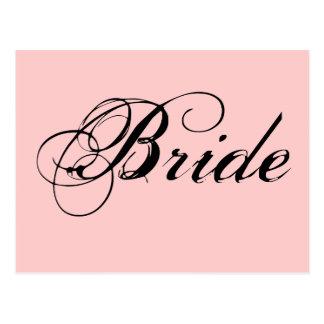 Fancy Bride On Pink Postcard