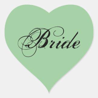 Fancy Bride On Sage Sticker
