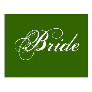 Fancy Bride On Spruce Postcard