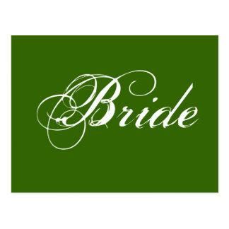 Fancy Bride On Spruce Postcard