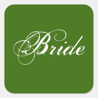Fancy Bride On Spruce Sticker