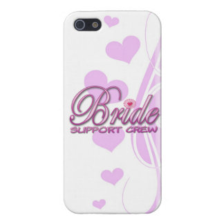 fancy bride support crew wedding bridal party fun case for iPhone 5