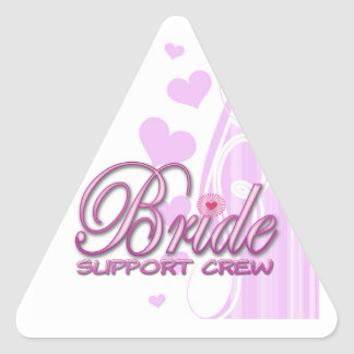 fancy bride support crew wedding bridal party fun sticker