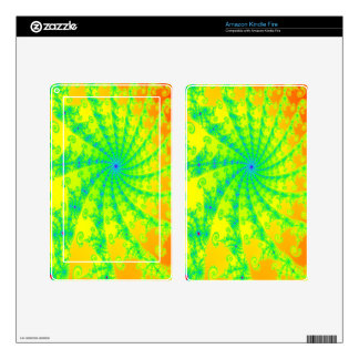Fancy Bright Fractal Design Decals For Kindle Fire