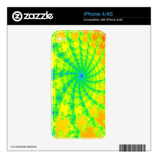 Fancy Bright Fractal Design iPhone 4 Decal